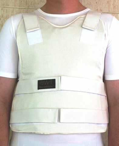 Concealable Bulletproof Vest Level III-A color White