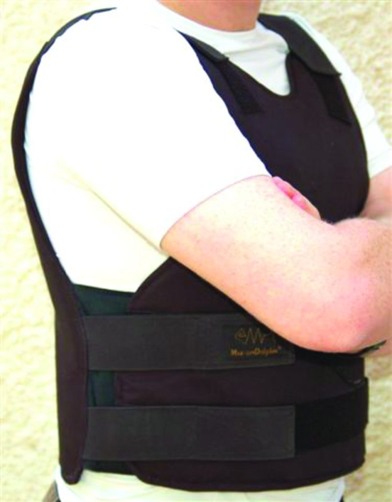 Concealable bulletproof vest IIIA with side protection