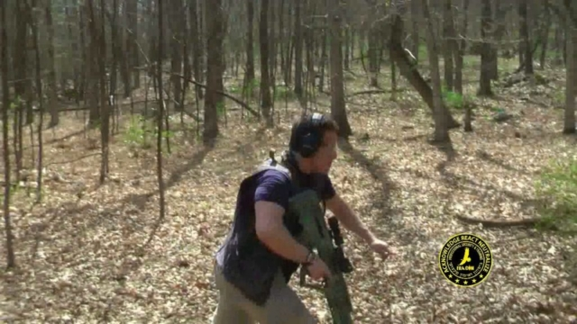 Tactical shooting with assault rifle Tavor