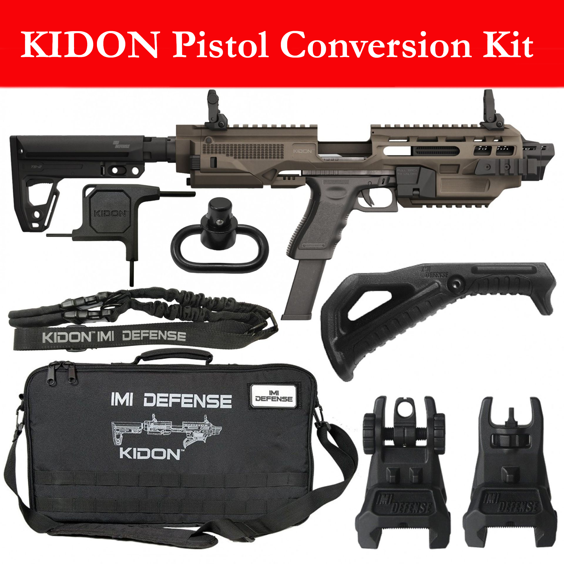 KIDON Pistol Conversion Kit Fits