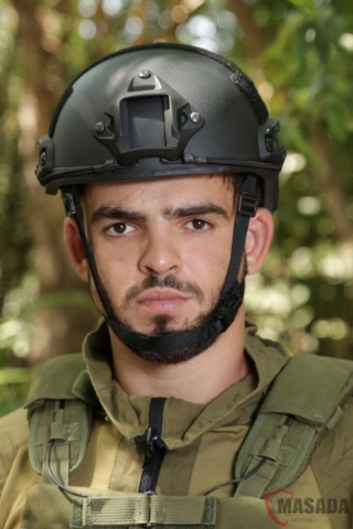 Fast combat helmet Masada Armour Front