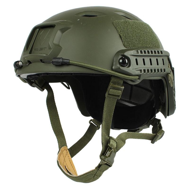 Fast Ballistic Helmet Green Diagonal Level IIIA