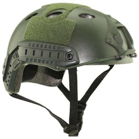 Fast Ballistic Helmet Green Diagonal Level IIIA