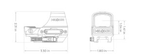 Open Reflex Sight HS510C_Dimensions